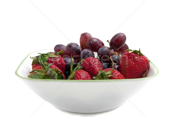 Bowl of Red Berries Stock photo © ArenaCreative