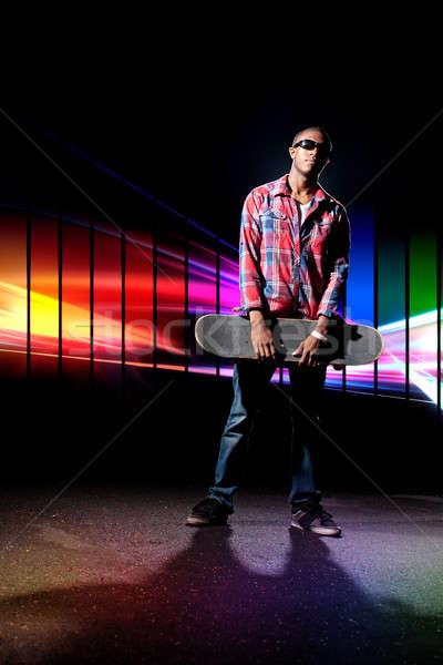Cool Skateboarder Guy Stock photo © ArenaCreative