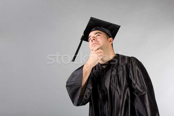 Graduate Thinking Stock photo © ArenaCreative