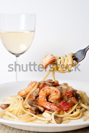 Shrimp and Pasta Stock photo © ArenaCreative