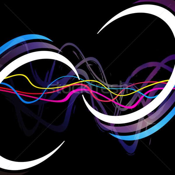 ファンキー 抽象的な レイアウト 波状の 行 ストックフォト © ArenaCreative