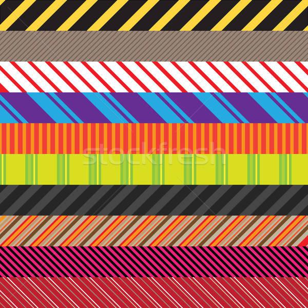 Foto stock: Variedade · empacotar · padrões · cores