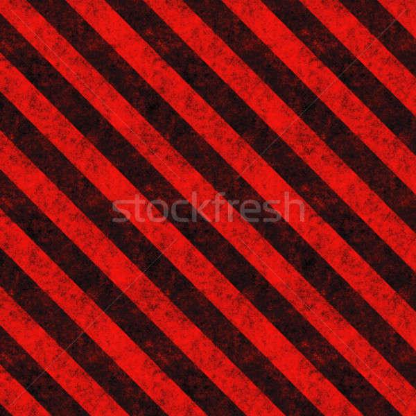 ストックフォト: 赤 · ハザード · 対角線 · テクスチャ · 風化した