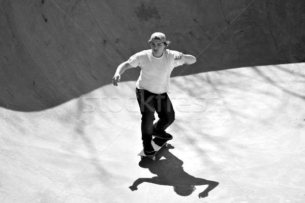 Stock photo: Skater Inside a Bowl