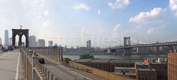 Köprüler panorama panoramik görüntü New York ufuk çizgisi Stok fotoğraf © ArenaCreative