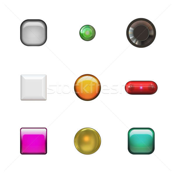 Glassy Buttons Variety Pack Stock photo © ArenaCreative