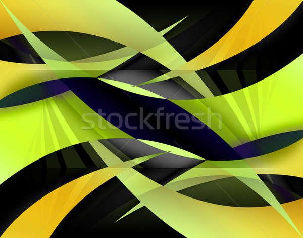 Stock fotó: Absztrakt · citromsárga · illusztráció · színes · textúra · terv