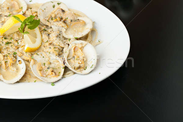 Italian Pasta with Clam Sauce Stock photo © arenacreative