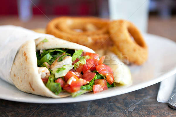 Chicken Pita Wrap Sandwich Stock photo © arenacreative