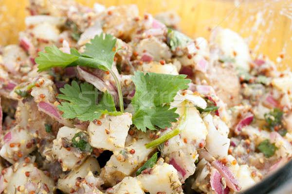 Healthy Homemade Potato Salad Stock photo © arenacreative
