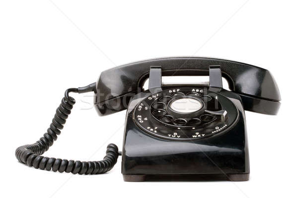 Old Black Retro Telephone Stock photo © ArenaCreative