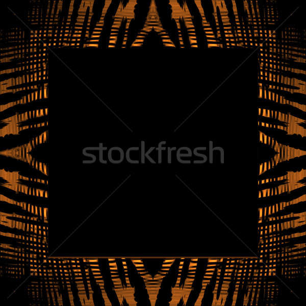 Stock photo: Tiger Stripe Frame