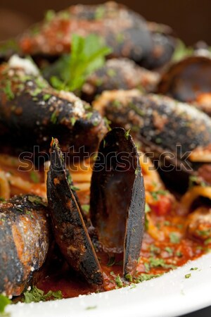 Zuppadi Mussels Closeup Stock photo © ArenaCreative