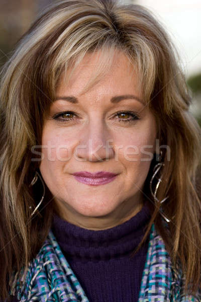 Sincero donna sorridente bella sorriso business Foto d'archivio © ArenaCreative