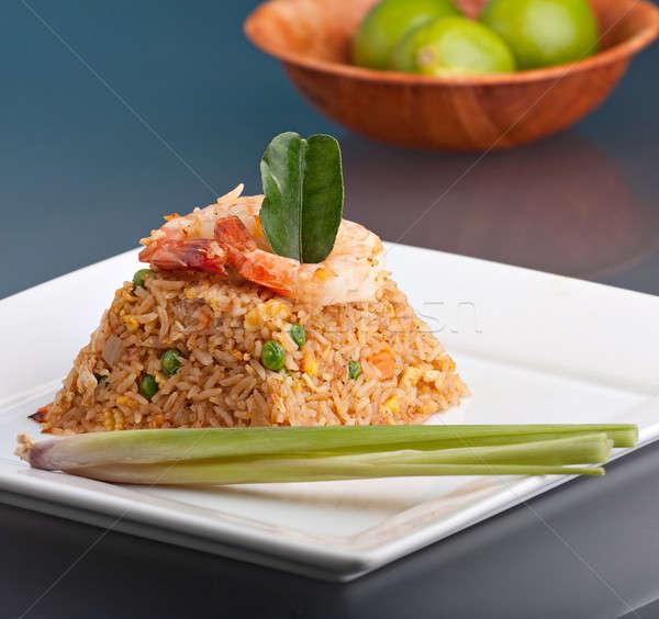 Shrimp Fried Rice Pyramid Stock photo © ArenaCreative