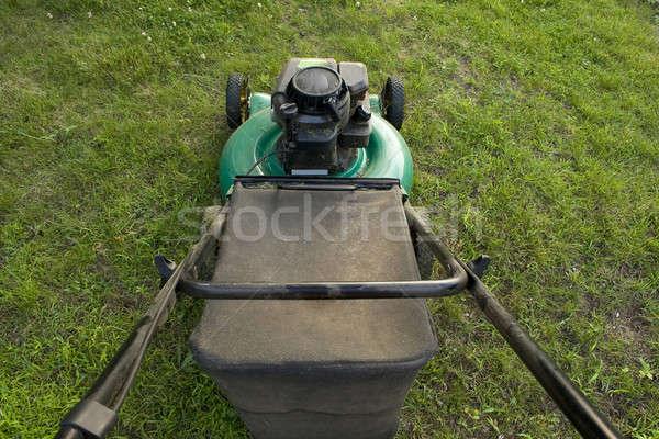 Pushing a Lawn Mower Stock photo © ArenaCreative