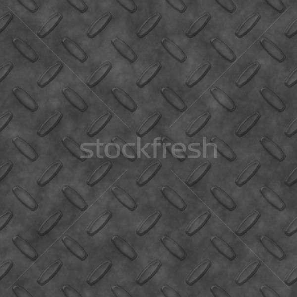 Szürke gyémánt tányér acél minta konzerv Stock fotó © ArenaCreative