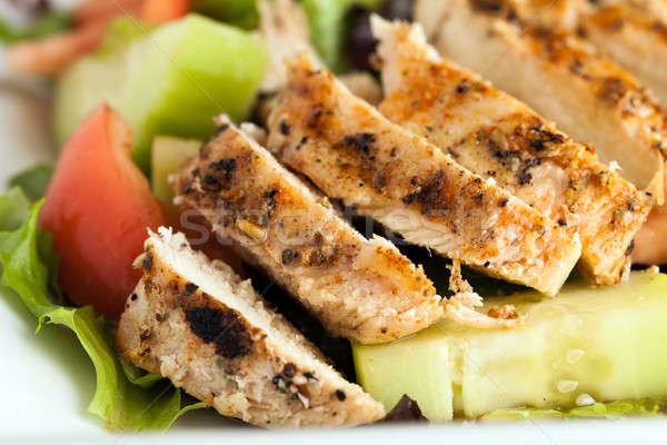 Lezzetli ızgara tavuk salata taze hazır şef Stok fotoğraf © ArenaCreative