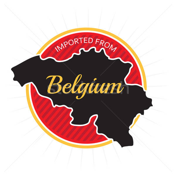 Imported from Belgium Label Stock photo © arenacreative