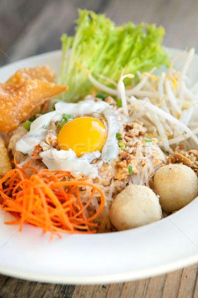 Taylandlı yemek sahanda yumurta stil pirinç Stok fotoğraf © arenacreative