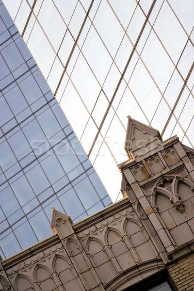 Modern építészet szép üzlet égbolt város Stock fotó © ArenaCreative