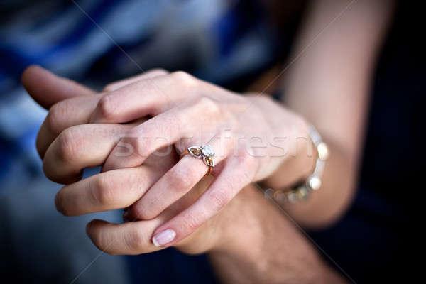 Engagement Ring Couple Stock photo © ArenaCreative