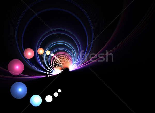 Abstract fractal draaikolk exemplaar ruimte stijl ontwerp Stockfoto © ArenaCreative