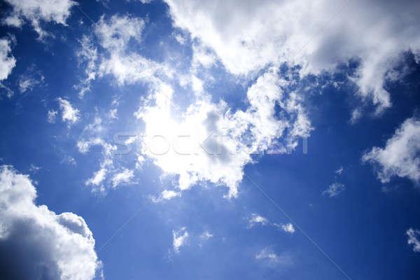 устрашающий облака ярко Blue Sky идеальный солнце Сток-фото © ArenaCreative