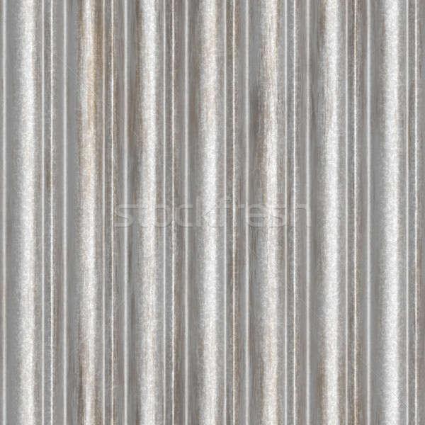 seamless corrugated metal Stock photo © ArenaCreative