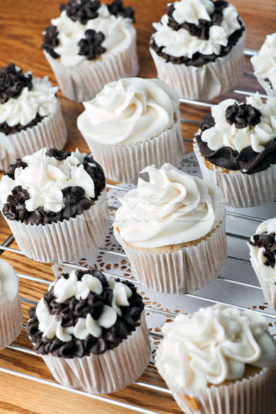 Iced Gourmet Cup Cakes Stock photo © ArenaCreative