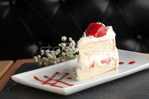 Gourmet Strawberry Shortcake Stock photo © arenacreative