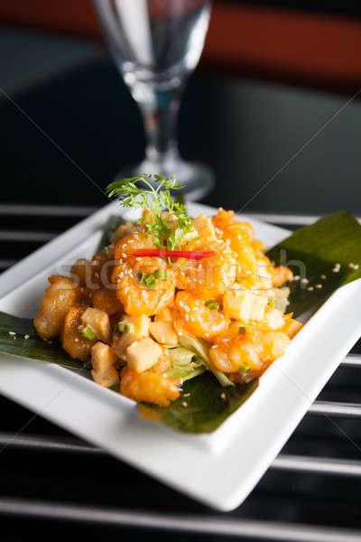 Crujiente tailandés camarón plato manzana Foto stock © arenacreative