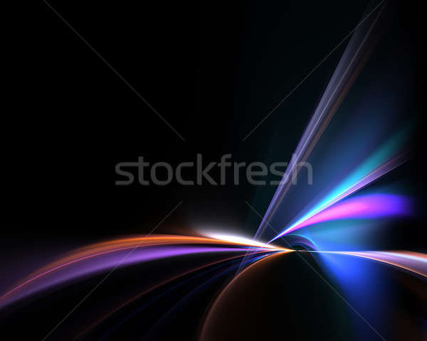 Vivid Fractal Waves Layout Stock photo © ArenaCreative