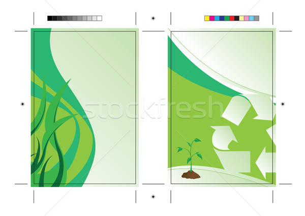 Going Green Postcard Template Stock photo © ArenaCreative