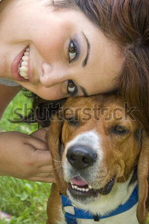 Woman Holding a Puppy Stock photo © ArenaCreative