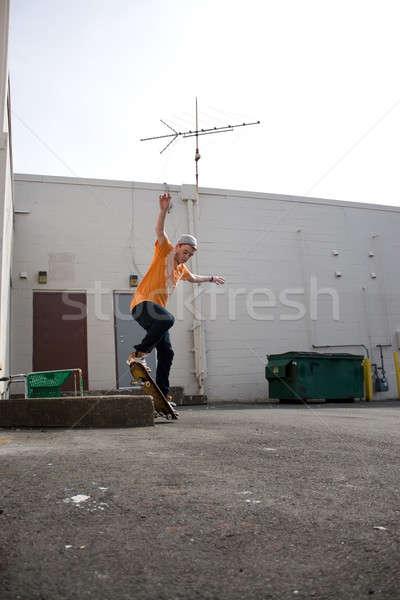 Skateboarder Grinding Stock photo © ArenaCreative