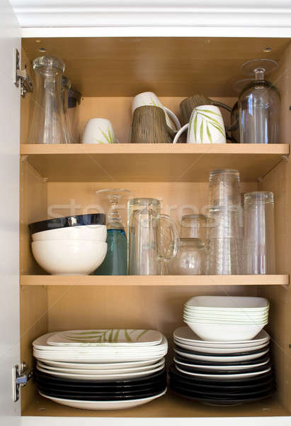 Dishes in the Cupboard Stock photo © ArenaCreative