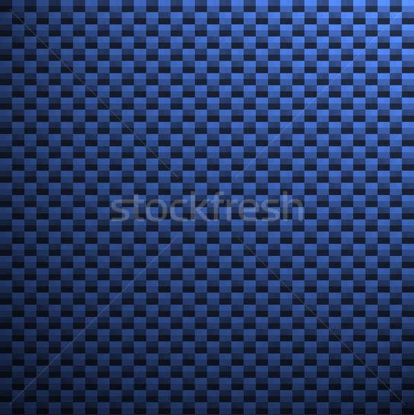 Blauw koolstofvezel patroon textuur kan beide Stockfoto © ArenaCreative