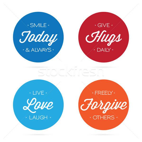 Positive Quotation Labels Stock photo © arenacreative