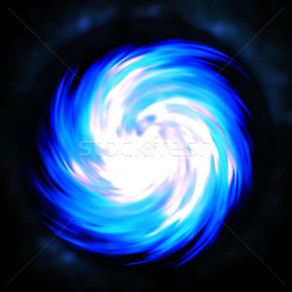 синий фрактальный спиральных аннотация дизайна Сток-фото © arenacreative