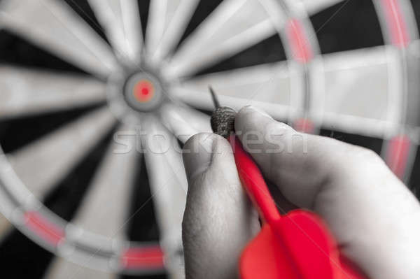 Hand Holding a Dart Stock photo © ArenaCreative