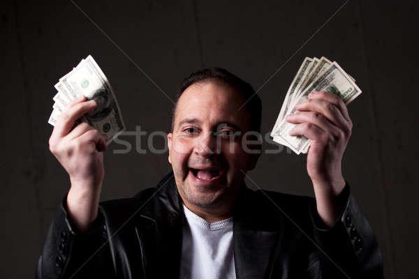 Hombre fuera dinero verde Foto stock © ArenaCreative