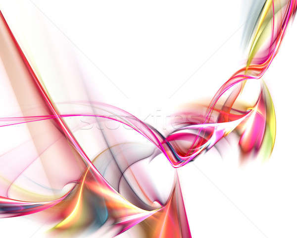 Twirling Light Trails Fractal Stock photo © ArenaCreative