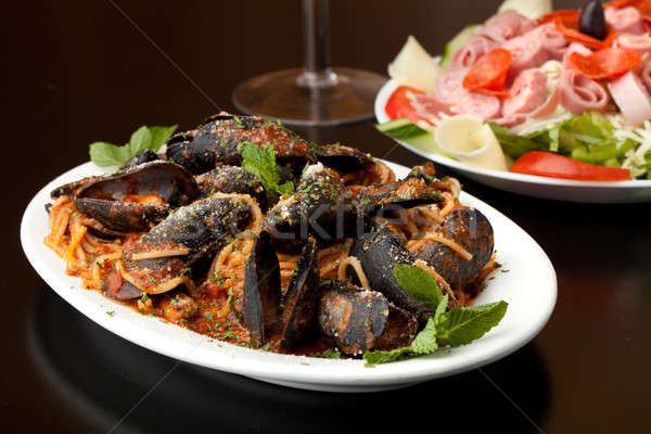 Italian Mussels Dish Stock photo © ArenaCreative
