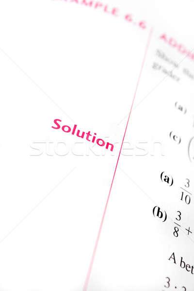 Math Solution Stock photo © ArenaCreative