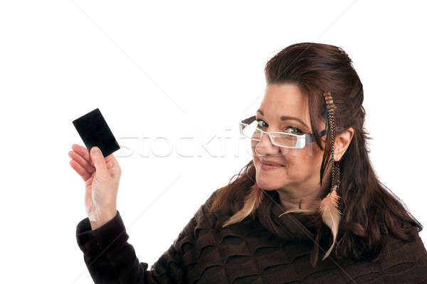 Woman With Blank Card Stock photo © ArenaCreative