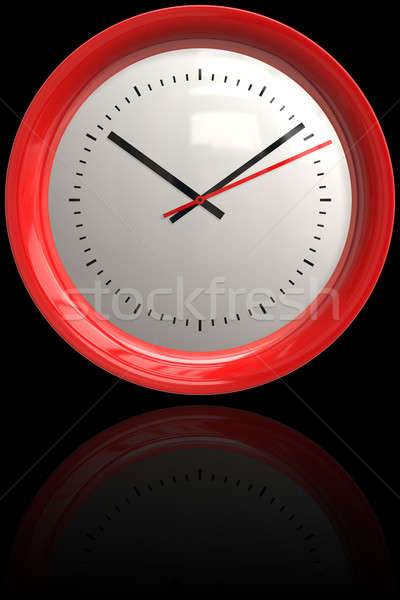 Red Clock Stock photo © ArenaCreative