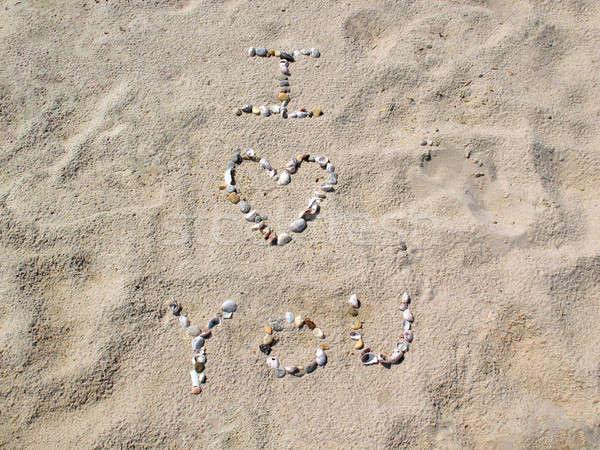Stock photo: Beach I Love You