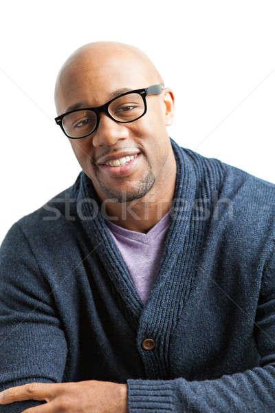 Smiling Man Wearing Glasses Stock photo © arenacreative