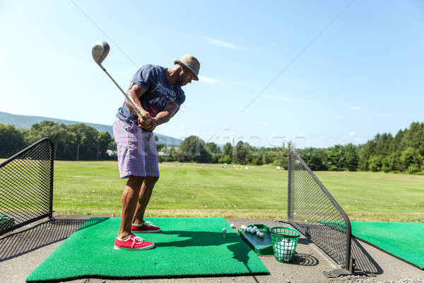 гольфист спортивный вождения случайный Сток-фото © arenacreative